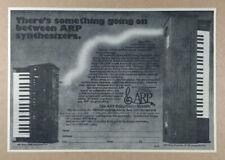 1975 ARP Axxe & String Ensemble Synthesizers vintage print Ad