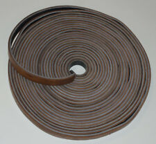 "VINTAGE UNUSED 50+FT LEATHER MACHINE BELT! 1"" WIDE! DOUBLE THICK! 2 COLORS! NEW!"