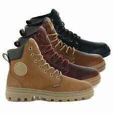 Palladium Mens Pallabousse Leather Lace Up Boots Walking Waterproof Work Shoes