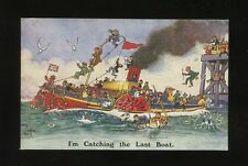 Artist REG CARTER Comic Paddle Steamer c1910/20s? J.Salmon PPC