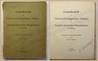 Papperitz Gedenkschrift zum 100. jähr. Jubiläum Bergakademie Freiberg 1916 xy