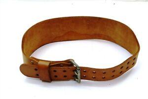 "ALTUS Leather 4"" Weight Lifting Belt Size Large 34 - 42"