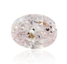 0.23 Carat Fancy Light Purplish Pink Diamond Natural Color Certified Oval Shpae