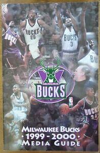 1999-2000 MILWAUKEE BUCKS MEDIA GUIDE - RAY ALLEN, GEORGE KARL COVER - NBA