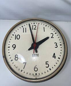 """Vintage IBM Industrial School 10"""" Clock IBM 95924, Circa 1950's, original labels"""