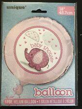 "Girls Baby Shower PINK 18"" FOIL HELIUM BALLOON Elephant Design Baby Shower"