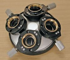Nikon Microscope 4 Objective Turret with DIC Prisms in Excellent Condition