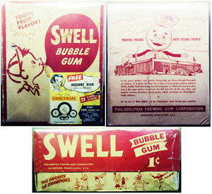 1950's/60's Swell Bubblegum Counter Display Box Empty