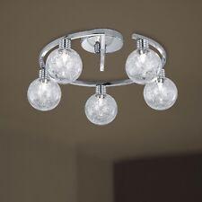 Wofi Deckenleuchte Fero 5-flg Chrom Glas Kugel Lampe inklusive Leuchtmittel G9