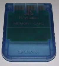 Clear Blue Genuine Sony PS1 Memory Card PlayStation 1 1MB