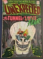 THE UNEXPECTED. NO.113. SILVER AGE. 1969. THE TUNNEL OF FEAR. HORROR DC ISSUE.