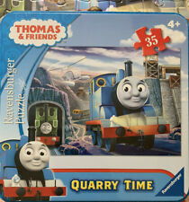 THOMAS & FRIENDS QUARRY TIME 35 pc PUZZLE WITH LUNCHBOX -All Pieces And Complete