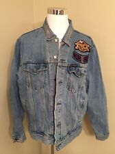 Vintage 2000 Harley Davidson Denim Jean Jacket Men's Size XL