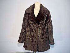 Women's Brown Faux Fur Winter Jacket Coat By Emba Furriers Size 13