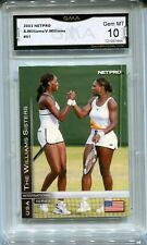 2003 Serena Wlliams with Venus NetPro Rookie Gem Mint 10 #51