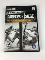 (Open Box) Tom Clancy's Rainbow Six Siege GOLD Edition for PC / Unused Inserts