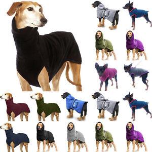 Winter Pet Dog Warmer Greyhound Whippet Lurcher Jumper High Collar Out Clothes
