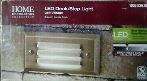 Home Decorators Collection LED Deck/Step Light 1002539388 Brass Bronze 4 Watt