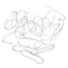 Hot Sale 100pcs Hair Tie Band Ponytail Holder Elastic Rubber Clear White Women