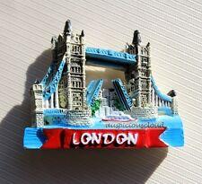 TOURIST SOUVENIR 3D Resin Fridge Magnet -- London Tower Bridge , United Kingdom
