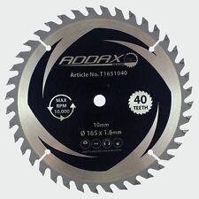 Quality ADDEX Cordless Saw Blade 165x10x40T. Free P&P