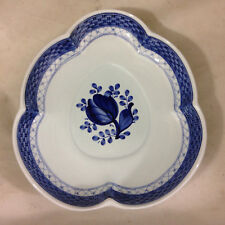 Vintage Aluminia Faience TRANQUEBAR BLUE Leaf-form Pickle Dish 1952