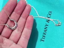 Tiffany & Co 1837 Herradura Colgante Charm Collar De Plata De Ley