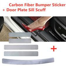 Car Accessories Carbon Fiber Door Plate Sill Scuff Silver Anti Scratch Sticker 5