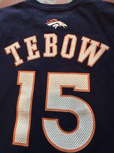 Tim Tebow Denver Broncos REEBOK t-shirt, Adult Large