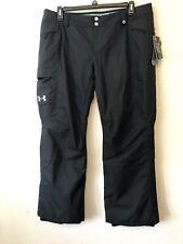 under armour womens SNOW SKI BOARD PANTS loose black sz XL NEW $159 #H335