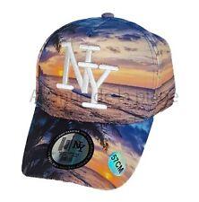 Casquette NY New York snapback coucher de soleil sur la plage neuf