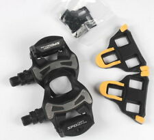 Shimano PD R550 SPD SL pedal Clipless Road bike Pedals + 6° Float Cleats Black