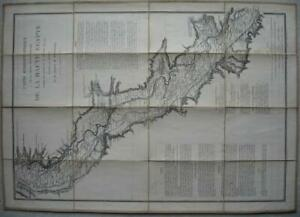 1884 - SOUTHERN EGYPT NILE HYDROGRAPHY - French Map after LINANT DE BELLEFONDS