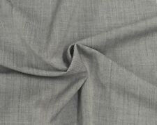 100% Wool Suiting Fabric Two Tone Black Gray by the Yard