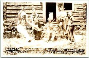 1940s VAN BUREN, Arkansas RPPC Photo Postcard GRANDPA SNAZZY Aunt Boo Dancing