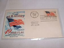 Saluting Our New Old Glory 49 Star Flag First Day Cover July 4, 1959 Auburn, NY