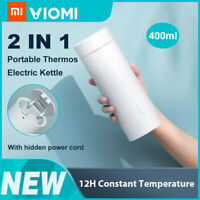400ml Travel Electric Heating Stainless Steel Tea Bottle Water Mug Cup Thermos