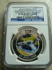 CANADA 20 DOLLARS 2014 ALGONQUIN PROVINCIAL PARK COLORIZED NGC PF-69 FINE SILVER