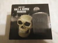 Grave yard Salt + Pepper Shakers Horror Block Halloween Skull Oddity Goth 666