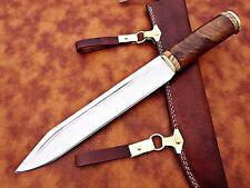 Mittelalter Arbeitsmesser Kelten WikingerHartholz Lederscheide Sax Style(P)