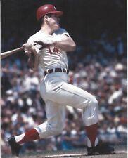 8x10 photo baseball Pete Rose, Cincinnati Reds follow thru