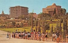JERUSALEM ISRAEL~THE SUPERMARKET-A VIEW FROM CITY GARDEN POSTCARD ALSO IN HEBREW