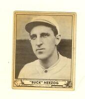 1940 Play Ball  #229 Charles Buck Herzog New York Giants High Number VG/EX no cr