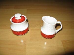 Mitterteich Bavaria Servier Set Zuckerdose Milchkanne Kaffee Service Porzellan