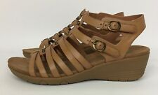 Baretraps Hydee Tan Brown Wedge Heel Gladiator Sandals Memory Foam Size 10 M
