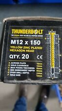 Thunder Bolts Hex Head  Concrete Screw Fixing Anchor - M12x150mm - Box of 20