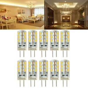 10Pcs 12V DC 3W G4 LED 24*3014 SMD Warm White Light Bulb Halogen 220LM 360° Beam