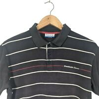 Vintage REEBOK Classic Dark Navy Blue Short Sleeve Polo Shirt - Mens S