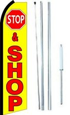 Stop & Shop Swooper Flag With Complete Hybrid Pole set