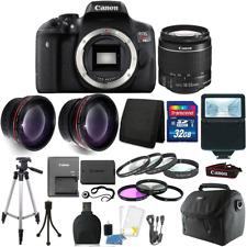 Canon EOS Rebel T6 DSLR Camera + EF-S 18-55mm IS II Lens Kit + 32GB Top Bundle